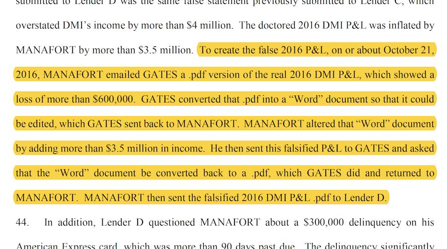 Manafort indictment screenshot