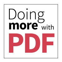 Doing more with PDF.