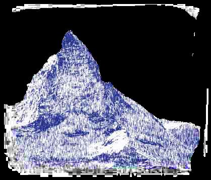 Stylized image of the Matterhorn mountain